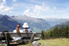 Couple enjoying mountain view Stock Image