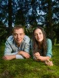 Couple enjoying nature Stock Images