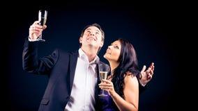Couple Enjoying New Year`s Eve Stock Photography