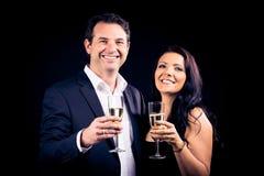 Couple Enjoying New Year`s Eve Stock Photo