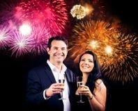 Couple Enjoying New Year`s Eve Stock Image