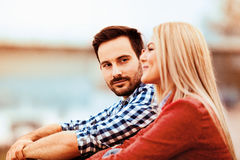 Couple enjoying outside Stock Photography