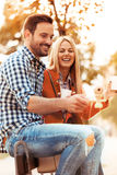 Couple enjoying outside Royalty Free Stock Images