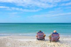 Couple Enjoying the Beach Royalty Free Stock Photo
