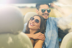 Couple enjoying a road trip together Royalty Free Stock Photo