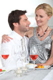 Couple enjoying a romantic evening Royalty Free Stock Image