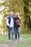 Couple enjoying romantic walk Stock Photo