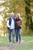 Couple enjoying romantic walk Stock Photo