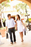 Couple Enjoying Shopping Trip Stock Photography