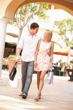 Couple Enjoying Shopping Trip Royalty Free Stock Photos
