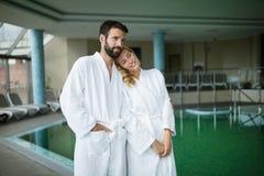 Couple enjoying spa wellness treatments Stock Image