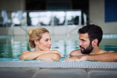 Couple enjoying spa wellness weekend Royalty Free Stock Photos
