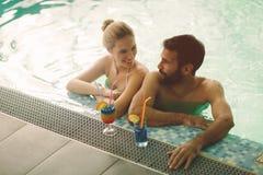 Couple enjoying spa wellness weekend Stock Image