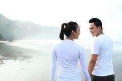 Couple enjoying a summer vacation Stock Image