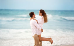 Couple enjoying in summer vacation Royalty Free Stock Image