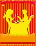 Couple Enjoying Sushi In Restaurant Stock Image