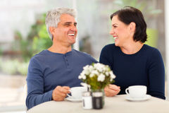Couple enjoying tea Royalty Free Stock Photography