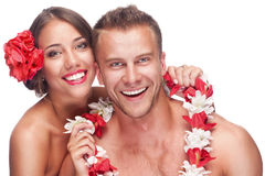 Couple enjoying their honeymoon Royalty Free Stock Image