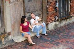 Couple enjoying time together Royalty Free Stock Photo