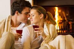Couple enjoying time together royalty free stock images