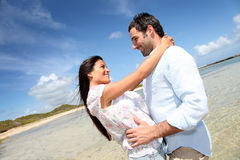Couple enjoying tropical vacation Royalty Free Stock Photo
