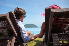 Couple enjoying vacation stock image