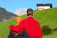 Couple enjoying a view Royalty Free Stock Photo
