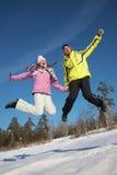 Couple enjoying  winter Royalty Free Stock Images