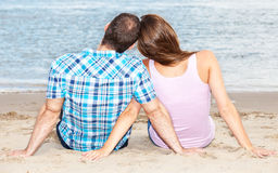 Couple enjoys time at the beach Royalty Free Stock Photo