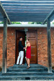 Couple At Entrance Royalty Free Stock Photos