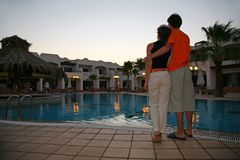 Couple on evening Royalty Free Stock Image