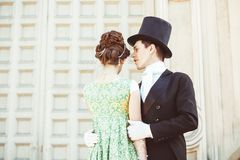 Couple in evening clothes royalty free stock images