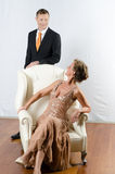 Couple at evening event Royalty Free Stock Image