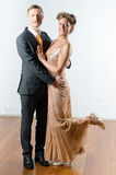 Couple at evening event Stock Images