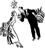 Couple Exchanging Gifts Royalty Free Stock Images