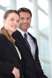Couple of executives Royalty Free Stock Images