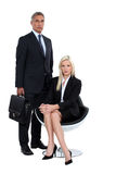 Couple of executives Stock Photography