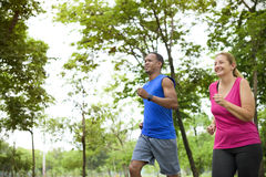 Couple Exercise Happiness Healthy Lifestyle Concept royalty free stock photos
