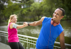 Couple Exercise Happiness Healthy Lifestyle Concept Royalty Free Stock Photo