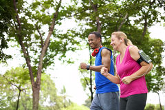 Couple Exercise Happiness Healthy Lifestyle Concept Stock Photo