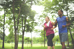 Couple Exercise Wearing Happiness Healthy Concept Stock Photos