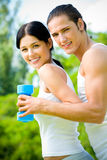 Couple exercising Stock Image