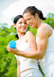Couple exercising Royalty Free Stock Photography