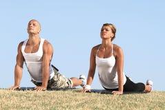 Couple exercising Stock Image