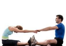couple exercising workout Body Building Exercis Stock Image