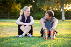 Couple exercising Royalty Free Stock Image