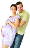 Couple expecting a baby Royalty Free Stock Image