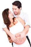 Couple expecting a baby Royalty Free Stock Images