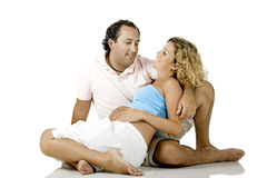 Couple expecting a baby Stock Images