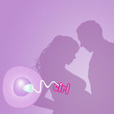 Couple expecting a baby female. Illustration of couple expecting a baby female Stock Images